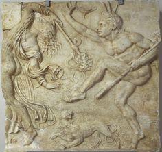 relief with Dionysiac procession and dances,  50-40 BC, Madrid Museo Nacional del Prado