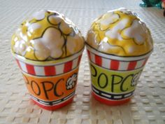 Movie Popcorn Salt and Pepper Shakers - Vintage,Collectible on Etsy, $9.99