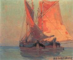 View Italian cargo boats - Adriatic by Edgar Alwin Payne on artnet. Browse upcoming and past auction lots by Edgar Alwin Payne. Landscape Art, Landscape Paintings, Landscapes, Dorian Gray, Edgar Payne, Composition Design, Water Reflections, Famous Art, Global Art