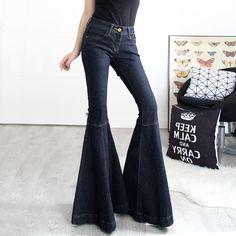 Купить товарВесна и лето рыбий хвост большой старинные загрузки вырезать джинсы женский стройный панк широкие брюки ноги синий большой flare брюки в категории Джинсына AliExpress. 100% brand newматериал: хлопокцвет: синий черныйразмер: 25-32 1 дюйм = 2.54 см                   &nbsp