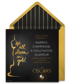 And the Oscar Goes to Oscar party Prom and Hollywood party