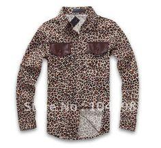 Leopard Casual Slim Fit Dress Shirts