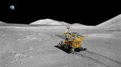 China's Yu Tu (Jade Rabbit) venturing forth on the lunar surface (Image: Xingua)