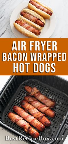 Take a look at our quick and simple Air Fried Bacon-Wrapped Hot Dogs recipe. It's easy to make at home!