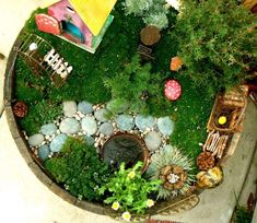 A Fairy Garden Round-Up via the popular Apartment Therapy site:  | #miniaturegarden #fairygarden