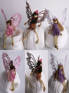 Winners of the 2014 Show 'n Tell ....Contest link broken, and no pattern, but could see these turned into Christmas angels,