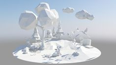 FERRERO (unfolding knowledge) by kay tennemann, via Behance - 3D Typography Design Modelling