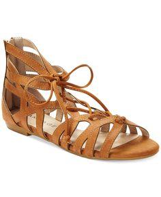 56c09556b Rampage Dole Flat Sandals   Reviews - Sandals   Flip Flops - Shoes - Macy s