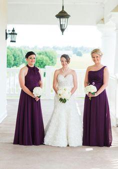 Eggplant purple bridesmaids dresses