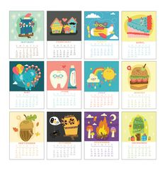 2013 Illustrated 12 Month Calendar