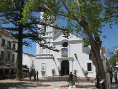 El salvador Church on the Balcon de Europa Nerja Spain, right next to our hotel