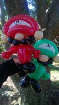 Mario and Luigi Balloon art, balloon animals
