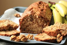 An easy gluten-free banana bread recipe that hits many of the needs for my family! This recipe is gluten-free, dairy free, nut free and easy on the budget! Best Gluten Free Banana Bread Recipe, Eggless Banana Cake Recipe, Banana Bread Recipes, Cake Recipes, Bolos Low Carb, Cake Ingredients, Food Cakes, Sweet Bread, Yummy Food