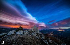 The Rock - Incredible sky in Rocca Calascio, L'Aquila, Italy.