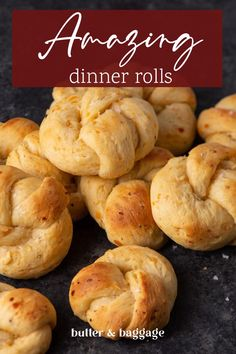Sour cream bread rolls formed into elegant knots are one of the BEST yeast roll recipes you'll find. Easy to make, they're a showstopper and sure to impress family and friends. Quick Bread Recipes, Pastry Recipes, Healthy Crockpot Recipes, Baking Recipes, Delicious Recipes, Healthy Food, Best Yeast Rolls, Breakfast Recipes, Dessert Recipes