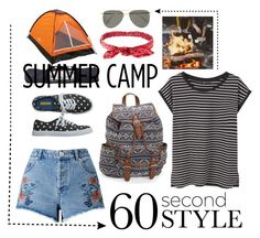 """""""Summer Camp Style in 60 Seconds"""" by luvchanel ❤ liked on Polyvore featuring Miss Selfridge, Milestone, MANGO, Le Specs, Aéropostale, Charlotte Russe, summercamp and 60secondstyle"""
