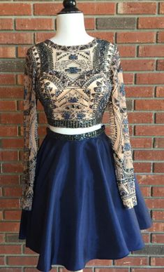 2 piece homecoming dresses, homecoming dresses 2 piece, two piece homecoming…