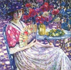 Girl with a Fan - Louis Ritman - The Athenaeum