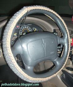 Crochet Steering Wheel Cover - Free Pattern {Super-Easy}