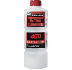 Mr Tool Cleaner 400ml Mr Tool Cleaner is a power solvent cleaning agent that can be used to clean brushes, airbrushes & tools. Will remove most paints & adhesives.  Price: £9.35