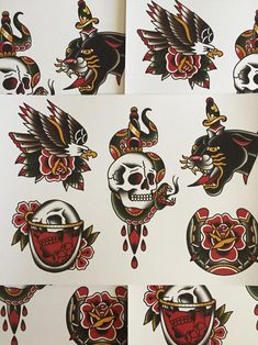 Top New Traditional Tattoo Drawings Ideas Flash Art Tattoos, Tattoo Flash Sheet, Traditional Tattoo Drawings, Traditional Tattoo Old School, Traditional Tattoo Design, Traditional Tattoo Illustration, American Traditional Tattoos, Traditional Art, Neotraditionelles Tattoo