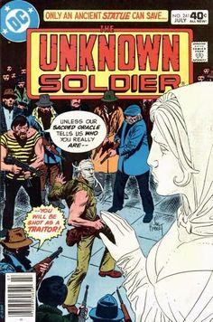 Unknown Soldier Comic Book Covers, Comic Books, Joe Kubert, Unknown Soldier, War Comics, Pulp Art, Marvel Dc, Horror, Statue