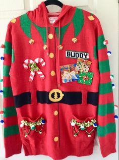 Diy Ugly Christmas Sweater, Ugly Xmas Sweater, Xmas Sweaters, Christmas Clothes, Christmas Outfits, Funny Christmas, Christmas Movies, Homemade Christmas, Christmas Stuff