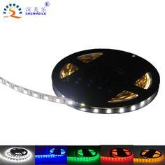 1 unids tira de led SMD 5050 12 v DC luz flexible 60 led/m Impermeable Cinta de luz led RGB 5050 LED lámpara de luz de neón Del Coche de La Lámpara