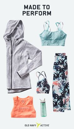 Make the treadmill your runway with stylish tops, bottoms and accessories from Old Navy Active. Each piece is designed with advanced fabric technology to give you a complete workout wardrobe that performs better. Find a look you love at Old Navy.
