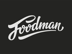 Foodman logo script by Tutov Evgeniy
