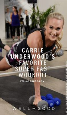 Carrie Underwood's favorite workout is HIIT is part of fitness - The country singer swears by a rapidfire form of HIIT developed in Japan called Tabata Here are her goto moves Celebrity Fitness, Celebrity Workout, Celebrity Diets, Fitness Goals, Fitness Tips, Fitness Motivation, Health Fitness, Yoga Fitness, Hiit