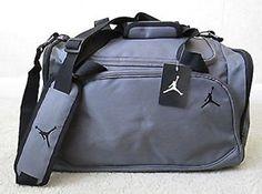 6ca3cb73da11 Amazon.com  Nike Jordan Mens Basketball Gym Duffel Duffle Bag Gray Grey  Style 8A1215-783  Clothing