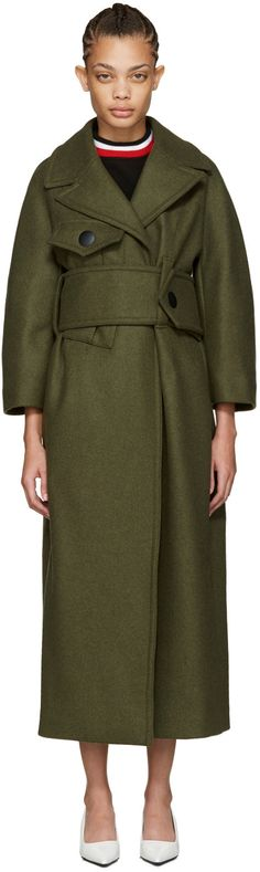 Marni - Green Wool Military Coat