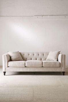 "Urban Outfitter Graham Microfiber Sofa - Dimensions: 89""l x 38""d x 31""h"
