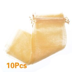 Bluecell Pack of 10pcs Gold Color Bottle and Wine Organza gift bags Drawstring Pouch Wrap for Champagne /Party/Game/Wedding/ Celebration * Be sure to check out this awesome product.