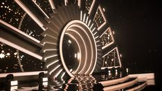 Corporate stage set on Behance Tv Set Design, Stage Set Design, Event Design, Alvin Ailey, Dark Fantasy Art, Royal Ballet, Award Tour, Concert Stage Design, Stage Lighting Design