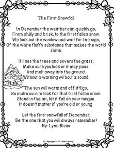 Fluency Poems for December-Monthly Poetry Comprehension or Poetry Centers