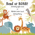 Meet the common core standards by Reading and Roaring! Choose either sight word practice or alphabet letter sound naming fluency.