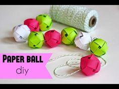How to make a paper ball DIY (very very easy craft)