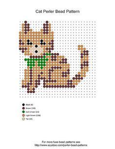 perler bead patterns | perler bead cat pattern | Flickr - Photo Sharing!