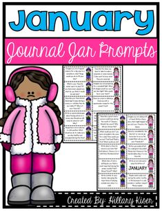 January Journal Jar Writing Prompts - January Writing Prompts which are great for cutting apart and putting in a Journal Jar. 20 topics total, one for each school day of the month! #teachersherpa