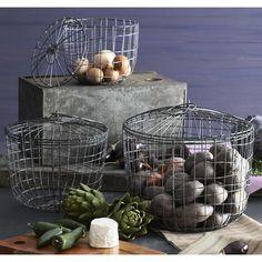 Woven Zinc Baskets
