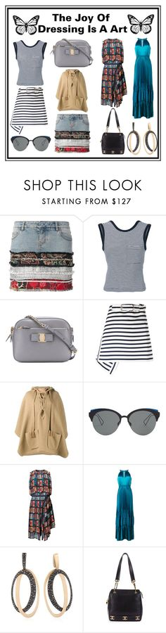 """""""The Joy Of Designing Is An Art..."""" by cate-jennifer ❤ liked on Polyvore featuring Faith Connexion, T By Alexander Wang, Salvatore Ferragamo, Carven, Christian Dior, Sacai, ZAC Zac Posen, ANTONINI, Chanel and vintage"""