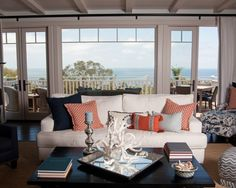 Beach Family Room Design, Pictures, Remodel, Decor and Ideas