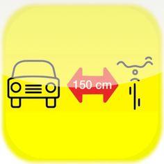 Naklejki  na samochód - 150 cm dla rowerzysty