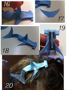 Hammerhead Ribbon Hair Clip {Photo Tute}