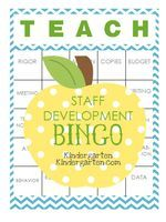 So I start staff development this week. I don't know about you, but I LOVE every minute! I really, REALLY do! But it's going to be even better this year, because I made this BINGO game for my team and I to play. The rules are simple...when you hear one...