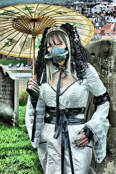 #Lady in White. Whitby Goth Weekend.Please Repin Thanks