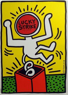 LUCKY STRIKE POSTER by Keith Haring