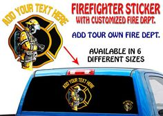 New To the Store FIRE FIGHTER STIC... Free Shipping On Orders over $25 http://usamoderngear.com/products/fire-fighter-sticker-that-you-custoize?utm_campaign=social_autopilot&utm_source=pin&utm_medium=pin